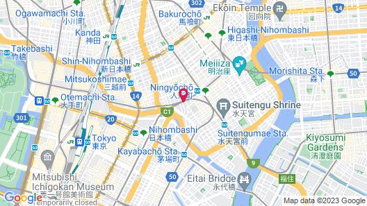 VIA INN Nihonbashi Ningyocho Map