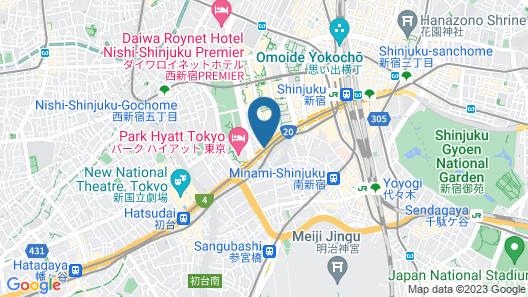 MIMARU TOKYO SHINJUKU WEST Map