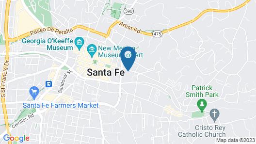 La Posada de Santa Fe, a Tribute Portfolio Resort & Spa Map