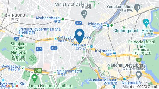 Hotel Keihan Tokyo Yotsuya Map
