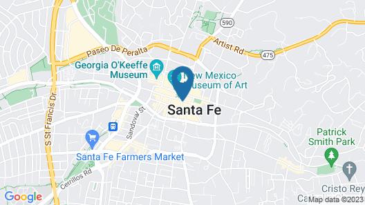 La Fonda on the Plaza Map