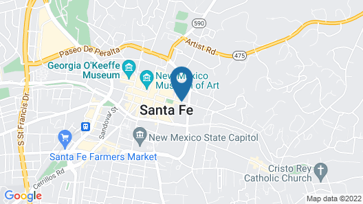 Drury Plaza Hotel in Santa Fe Map
