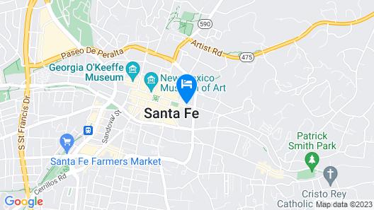 Drury Plaza Hotel in Santa Fe Map