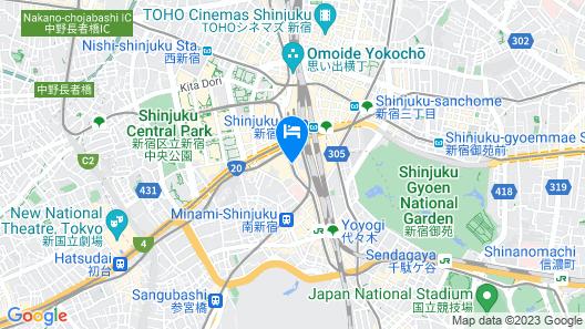 Hotel Sunroute Plaza Shinjuku Map