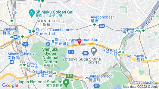 Hotel Wing International Premium Tokyo Yotsuya Map