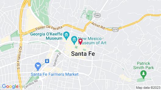 Hotel Chimayo de Santa Fe Map