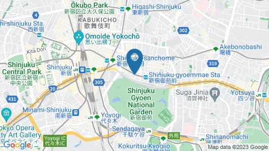 APA Hotel Shinjuku Gyoen-mae Map