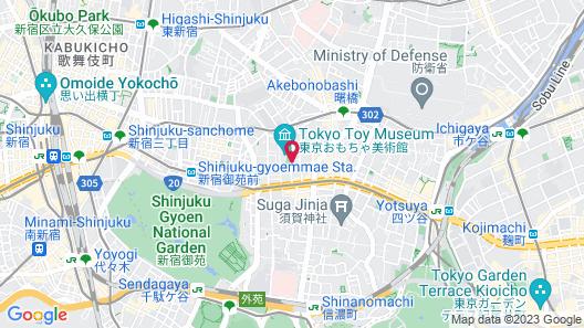 1/3rd Residence Serviced Apartments Shinjuku Map