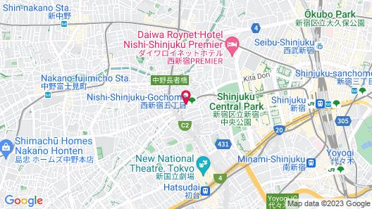 APA Hotel & Resort Nishishinjuku Gochome Eki Tower Map