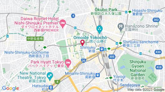 Keio Plaza Hotel Tokyo Map