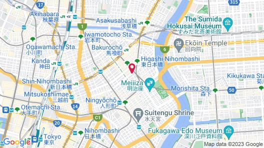 GRIDS TOKYO NIHOMBASHI EAST HOTEL&HOSTEL Map