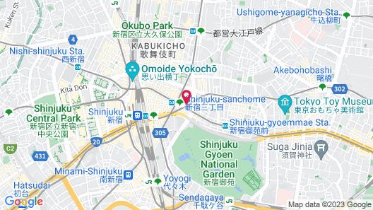 Tokyu Stay Shinjuku Map