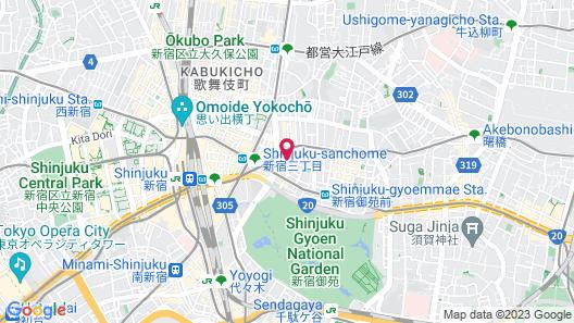 City Hotel Lonestar Shinjuku Map