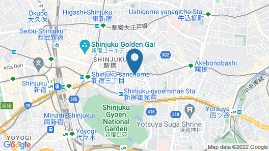 Citadines Shinjuku Tokyo Map