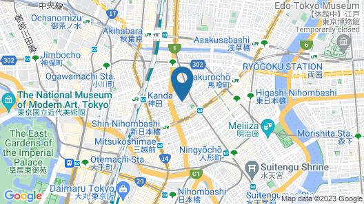 &AND HOSTEL KANDA Map