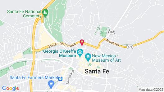 El Corazon de Santa Fe - Three Bedroom Home Map