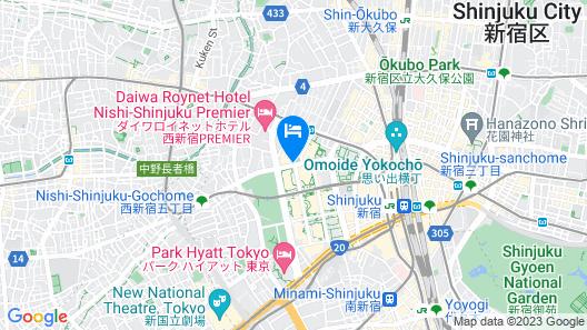 Hilton Tokyo Map