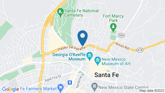 Villas de Santa Fe by Diamond Resorts Map