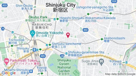 ONSEN RYOKAN YUEN SHINJUKU Map
