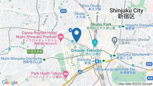 Nishitetsu Inn Shinjuku Map