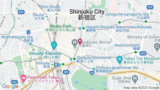 Hotel Sunlite Shinjuku Map