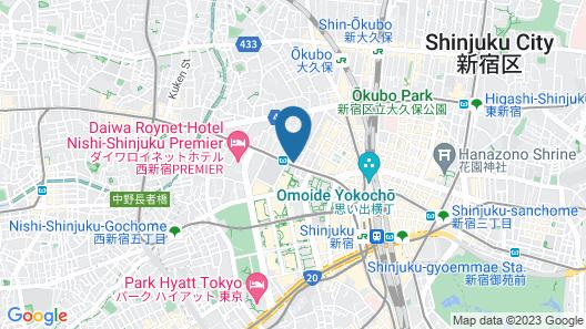 Hotel Rose Garden Shinjuku Map