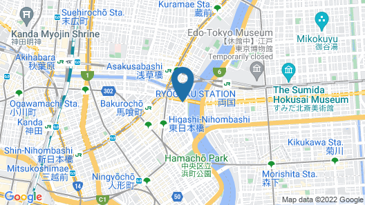 Guest House TRACE Higashi-nihonbashi Riverside - Hostel Map