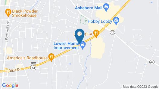 Hampton Inn Asheboro Map