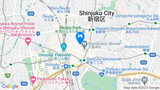 Citadines Central Shinjuku Tokyo Map
