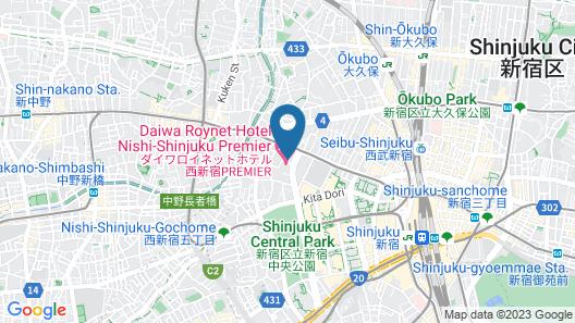 Daiwa Roynet Hotel Nishi Shinjuku Map