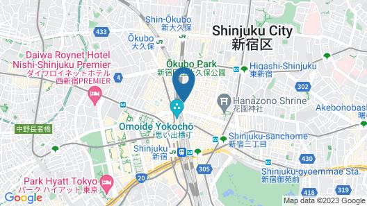 Shinjuku Prince Hotel Map