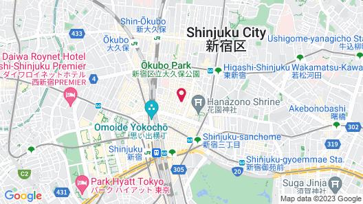 Capsule Hotel Shinjuku 510 Map