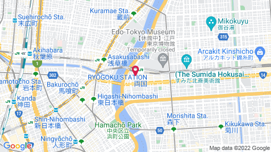 Ryogoku View Hotel Map