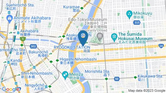 Ryogoku View Hotel Map