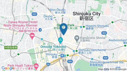 BOOK AND BED TOKYO SHINJUKU - Hostel Map