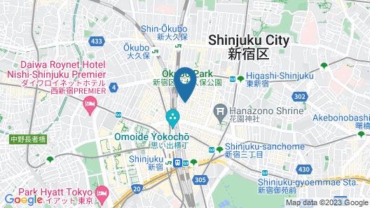 Hotel Wing International Shinjuku Map