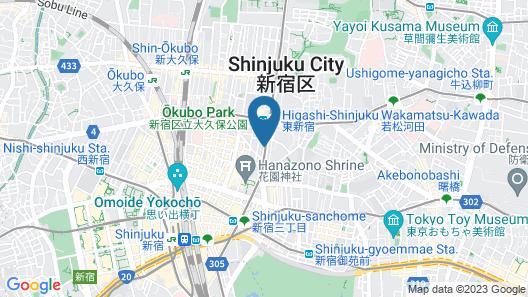 BESPOKE HOTEL Shinjuku Map