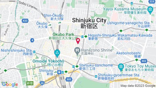 HOTEL THE HOTEL Shinjuku Kabukicho - Adult Only Map