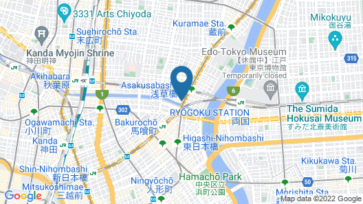 HOTEL LiVEMAX ASAKUSABASHI-EKIMAE Map