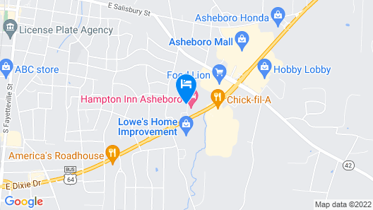 Holiday Inn Express and Suites Asheboro, an IHG Hotel Map