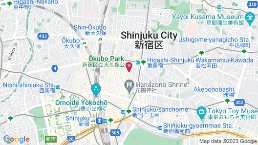 Shinjuku Granbell Hotel Map