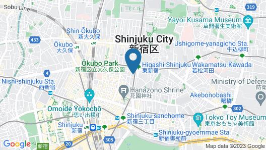 Hotel Livemax Shinjuku Kabukicho Meijidori Map