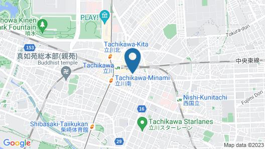 Tachikawa Urban Hotel Main Map