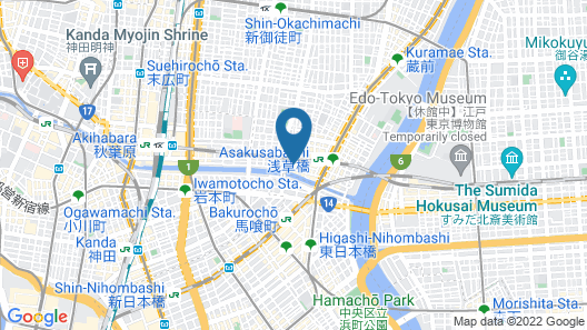 Hotel MyStays Asakusa-bashi Map