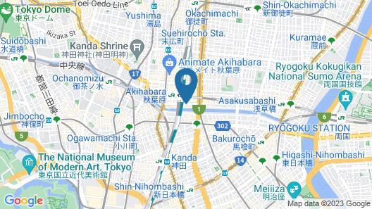 Akihabara Washington Hotel Map