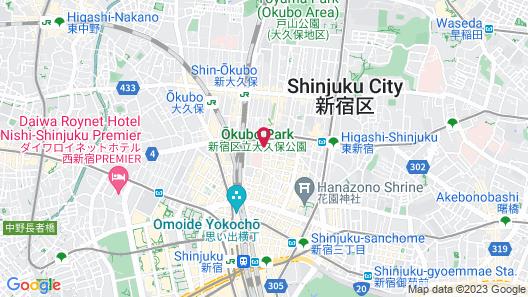 La'gent Hotel Shinjuku Kabukicho Map