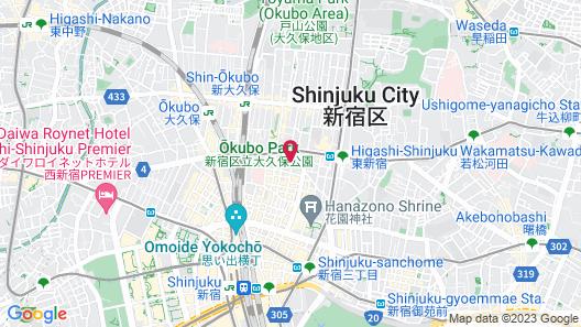 APA Hotel Higashi Shinjuku Kabukicho Nishi Map