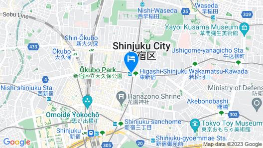 E Hotel Higashi Shinjuku Map