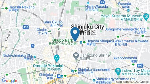 APA Hotel Higashi Shinjuku Kabukicho-Higashi Map