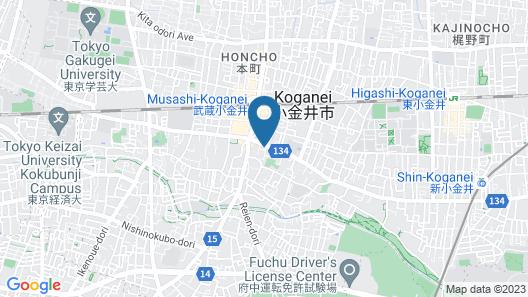 Wild Cherry Blossom Hostel Tokyo Koganei Map